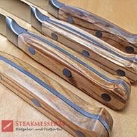 Makami Olive Deluxe Steakmesser 4 Holzgriffe seitlich