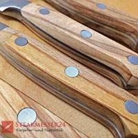 Makami Olive Deluxe Steakmesser 4 Holzgriffe von oben