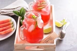 Fruchtige Wassermelonen-Limetten-Limonade
